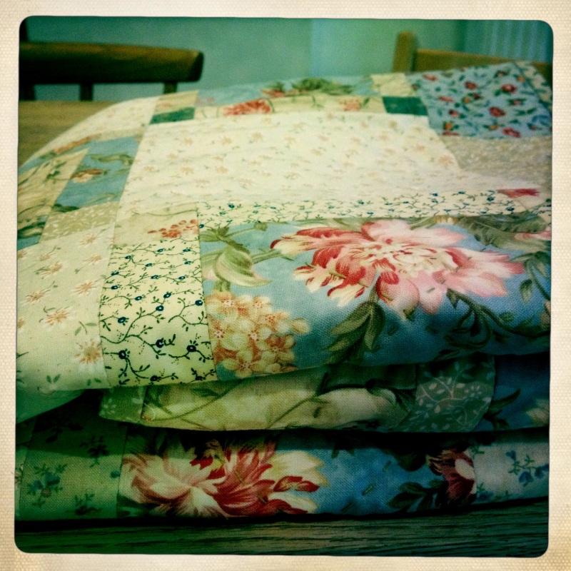 Cottage Quilt folded.